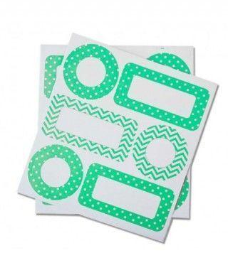 Etiquetas Adhesivas Verdes Regalos Fiesta