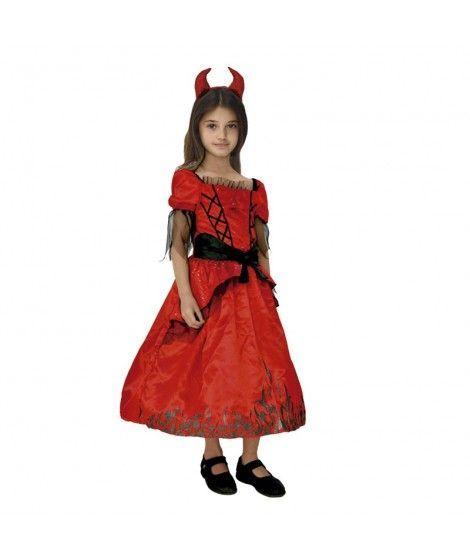 Disfraz Diablesa Dark Flame niña infantil para Halloween