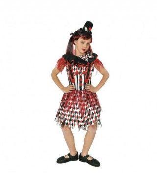 Disfraz Payasa Malvada Evil Clown niña infantil para Halloween