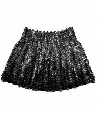 Minifalda Lentejuelas Negra adulto