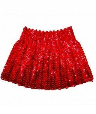Minifalda Lentejuelas Roja adulto