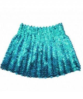 Minifalda Lentejuelas Azul Turquesa adulto