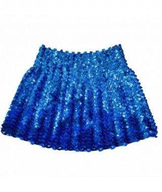Minifalda Lentejuelas Azul Oscura adulto