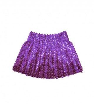Minifalda Lentejuelas Morada infantil