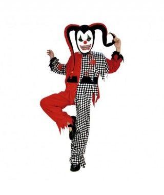 Disfraz Bufón Maléfico rojo niño infantil para Halloween
