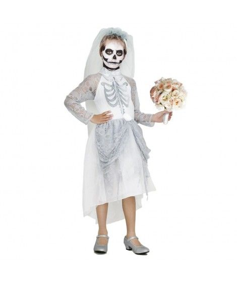 Disfraz de Novia Cadáver Gris niña infantil para Halloween