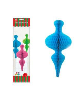Colgante Azul Nido Abeja Bauble Luxe Decoración
