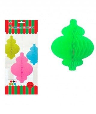 Colgante Verde Nido Abeja Lamp Luxe Decoración