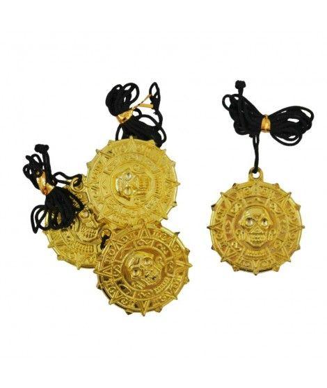 Medallón Calavera Pirata (4 uds) Accesorio