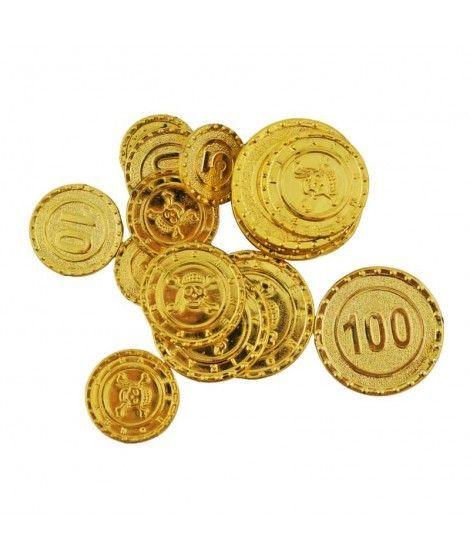 Monedas de Oro Tesoro Pirata (20 uds)