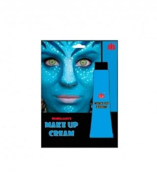 Maquillaje en crema Azul...