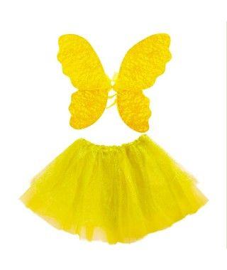 Conjunto Alas mariposa y Tutú Hilos Brillantes (+ colores)