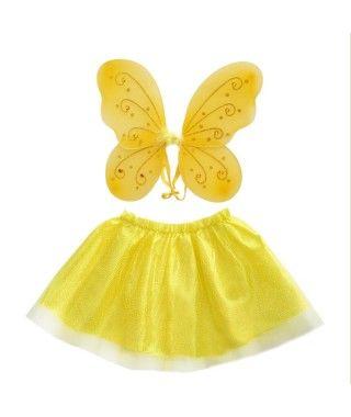 Conjunto Alas mariposa y Tutú Strass (+ colores)