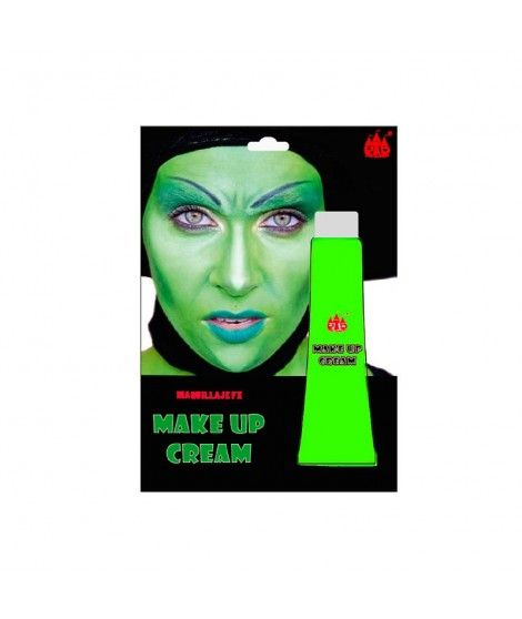 Maquillaje en crema Verde (Tubo 28 ml) Pinturas Carnaval y Halloween