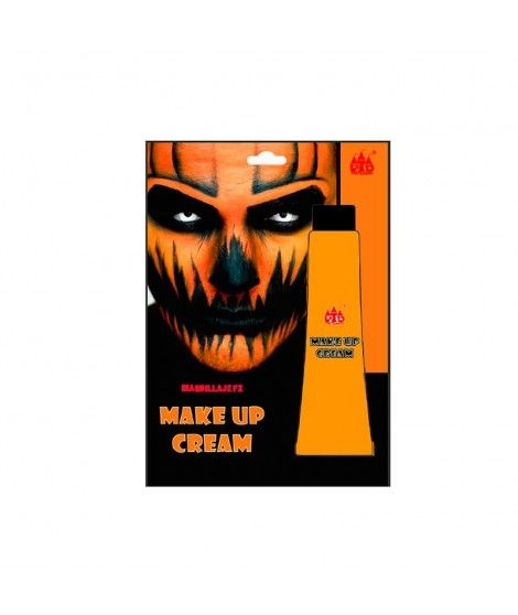 Maquillaje en crema Naranja (Tubo 28 ml) Pinturas Carnaval y Halloween