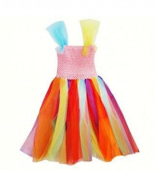 Vestido Arco Iris con tutú
