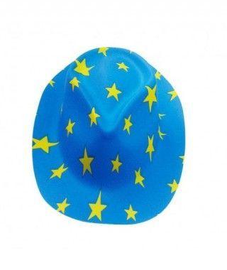 Sombrero Cowboy Estrellas Azul PVC