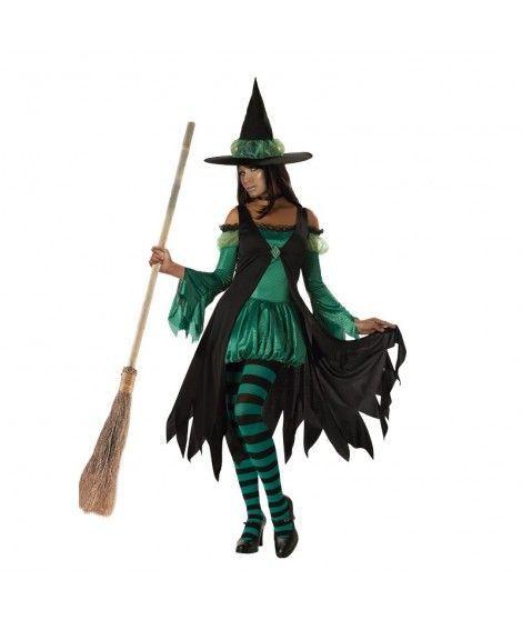 Disfraz Bruja Verde Mujer Adulto Halloween
