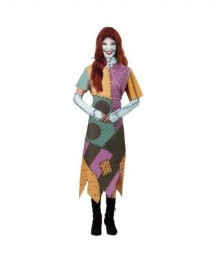 Disfraz Muñeca de Trapo Cosida mujer adulto Halloween