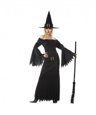 Disfraz Bruja Negra mujer adulto