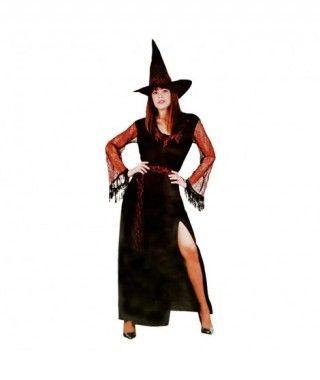 Disfraz Bruja telarañas para mujer