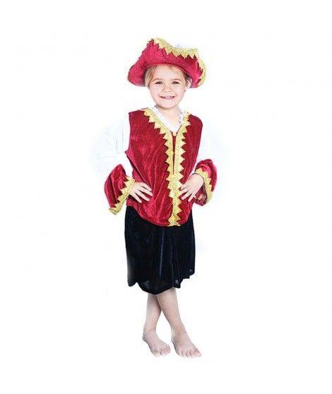 Disfraz Capitana Pirata Terciopelo para niña