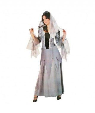 Disfraz Novia de la Noche Gris para mujer
