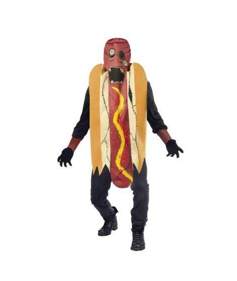 Disfraz Perrito Caliente Zombi adulto para Halloween