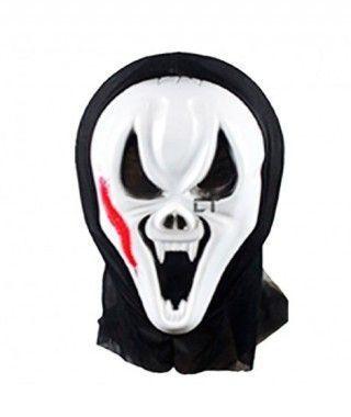 Máscara Demonio Ciempiés PVC capucha