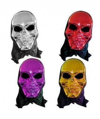 Máscara Calavera Metalizada