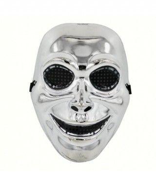 Máscara Cara Sonriente Metalizada