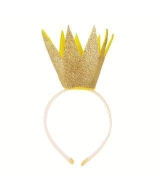 Diadema Corona Puntas Oro