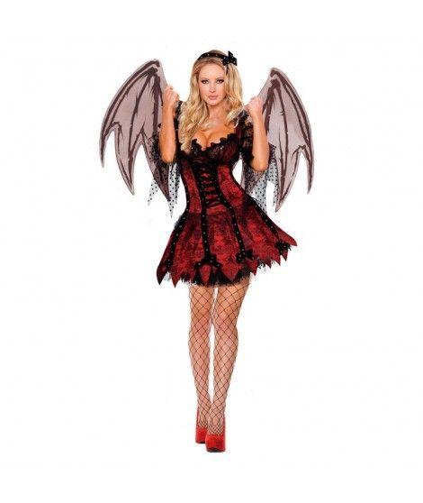 Disfraz Vampiresa con Alas mujer adulto para Halloween