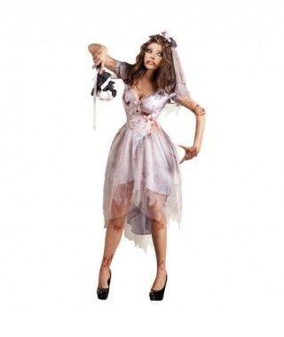 Disfraz Novia Zombi mujer adulto para Halloween