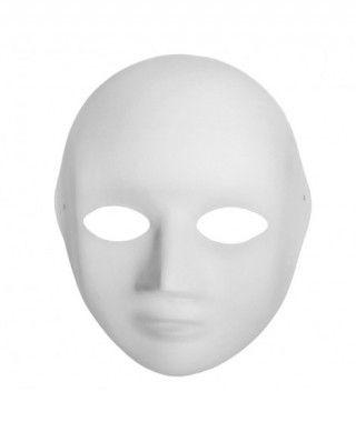 Máscara Mujer Cartón Manualidades
