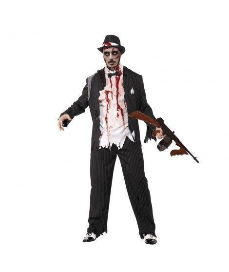 Disfraz Zombi Gángster hombre adulto para Halloween
