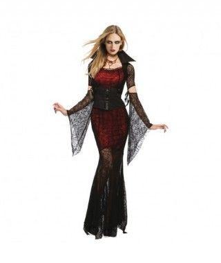 Disfraz Vampiresa encajes mujer adulto para Halloween