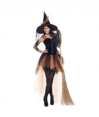 Disfraz Bruja Naranja mujer adulto Halloween