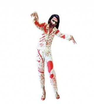 Disfraz Chica zombie en pijama para mujer