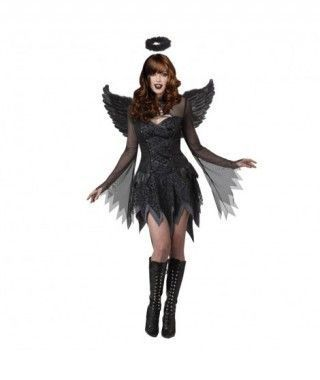 Disfraz Ángel Negro mujer adulto para Halloween