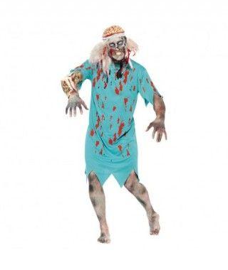 Disfraz de Paciente zombie adulto