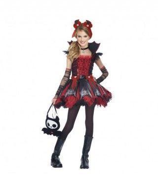 Disfraz de vampiresa Cool niña infantil para Halloween