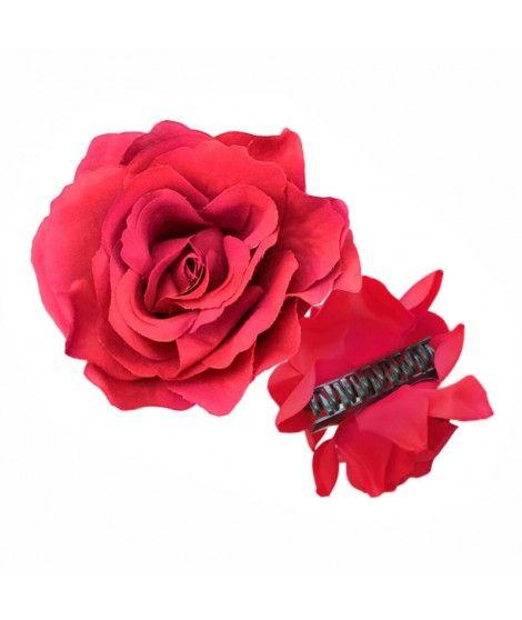Rosa Flamenca Pinza Granate