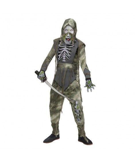 Disfraz Zombi Ninja gris niño infantil para Halloween