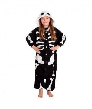 Disfraz de Esqueleto infantil Pijama Kigurumi