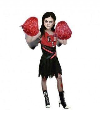 Disfraz de zombie Animadora para niña