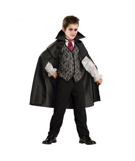 Disfraz Vampiro Negro para niño