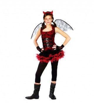 Disfraz de Diablesa Alada Chic para niña