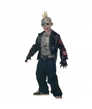 Disfraz de zombie Punky para niño