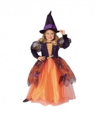 Disfraz de Bruja Naranja para niña